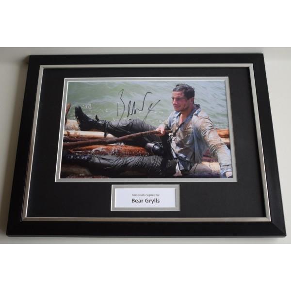 Bear Grylls SIGNED FRAMED Photo Autograph 16x12 display SAS Survival Expert  AFTAL & COA Memorabilia PERFECT GIFT
