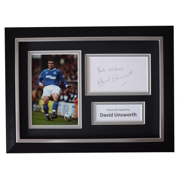 David Unsworth SIGNED A4 FRAMED Autograph Photo Display Everton Football AFTAL  COA Memorabilia PERFECT GIFT