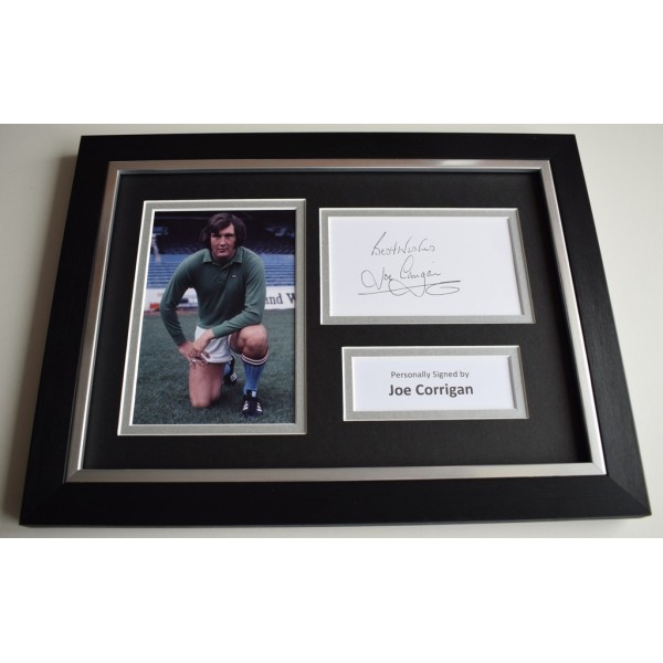 Joe Corrigan Signed A4 FRAMED photo Autograph display Manchester City COA & AFTAL Memorabilia   perfect gift