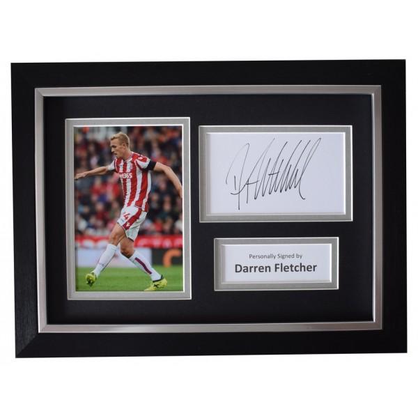 Darren Fletcher SIGNED A4 FRAMED Autograph Photo Display Stoke City Football AFTAL  COA Memorabilia PERFECT GIFT