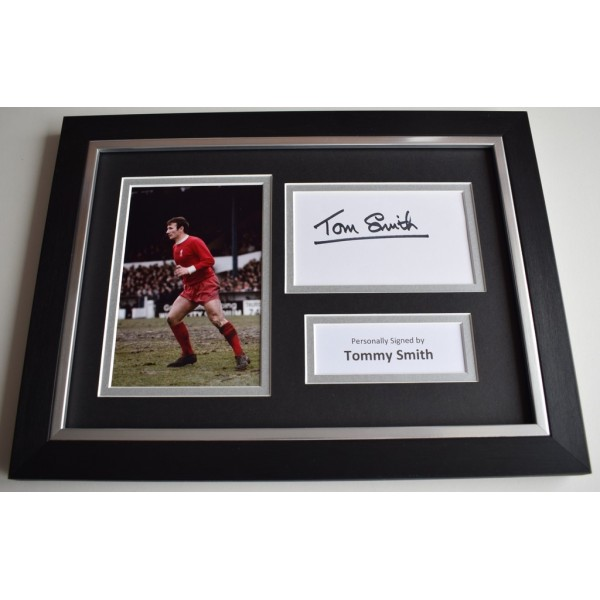 Tommy Smith Signed A4 FRAMED photo Autograph display Liverpool Football  COA & AFTAL Memorabilia   perfect gift