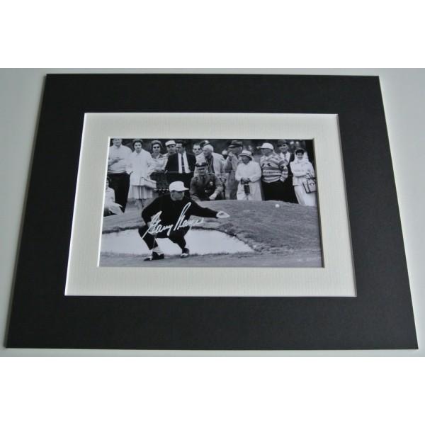 Gary Player Signed Autograph 10x8 photo mount display Golf Memorabilia  COA AFTAL Memorabilia PERFECT GIFT