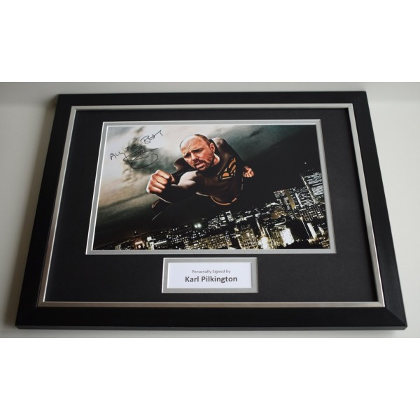 Karl Pilkington SIGNED FRAMED Photo Autograph 16x12 display AFTAL Idiot Abroad  AFTAL & COA Memorabilia PERFECT GIFT