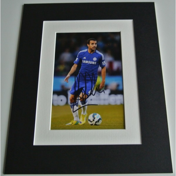 Cesc Fabregas Signed Autograph 10x8 photo mount display Chelsea Football & COA AFTAL Memorabilia PERFECT GIFT