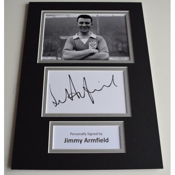 Jim Armfield Signed Autograph A4 photo display Blackpool Football Memorabilia  AFTAL & COA perfect gift