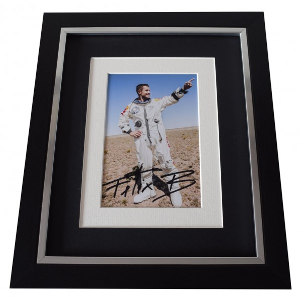 Felix Baumgartner SIGNED 10x8 FRAMED Photo Autograph Display Space Jump  AFTAL  COA Memorabilia PERFECT GIFT