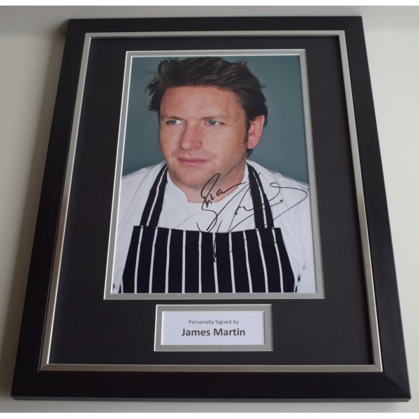 James Martin SIGNED FRAMED Photo Autograph 16x12 display Saturday Kitchen  AFTAL & COA Memorabilia PERFECT GIFT