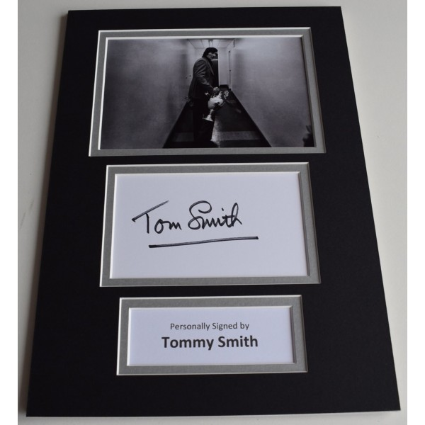 Tommy Smith Signed Autograph A4 photo display Liverpool Football   Memorabilia  AFTAL & COA perfect gift