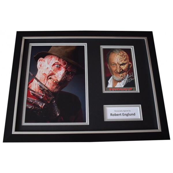Robert Englund Signed FRAMED Photo Autograph 16x12 display Freddy Krueger  AFTAL  COA Memorabilia PERFECT GIFT