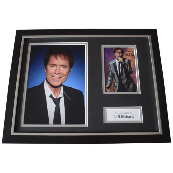 Cliff Richard Signed FRAMED Photo Autograph 16x12 display Music  AFTAL  COA Memorabilia PERFECT GIFT