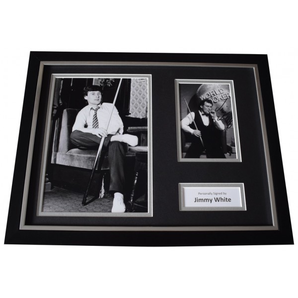 Jimmy White Signed FRAMED Photo Autograph 16x12 display Snooker Sport AFTAL  COA Memorabilia PERFECT GIFT