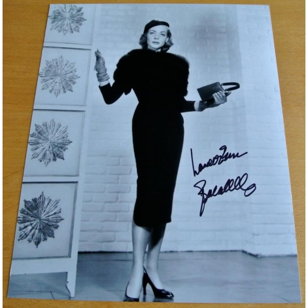 LAUREN BACALL GENUINE HAND SIGNED AUTOGRAPH 10X8 PHOTO HOLLYWOOD FILM & COA AFTAL Memorabilia Clearance Sale