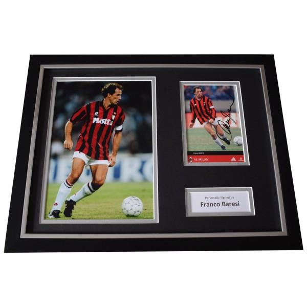 Franco Baresi Signed FRAMED Photo Autograph 16x12 display A.C.Milan Football  AFTAL  COA Memorabilia PERFECT GIFT