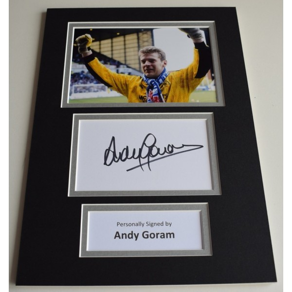 Andy Goram Signed Autograph A4 photo display Rangers Football  Memorabilia  AFTAL & COA perfect gift