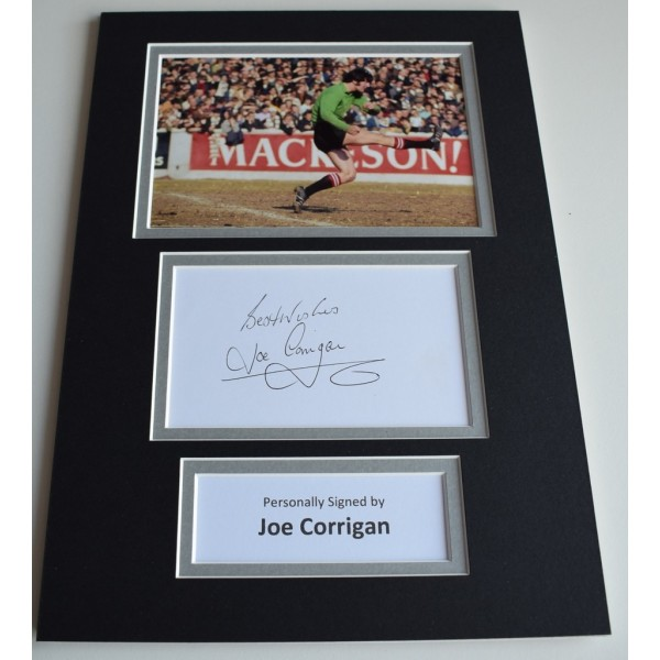 Joe Corrigan Signed Autograph A4 photo display Manchester City Football  Memorabilia  AFTAL & COA perfect gift