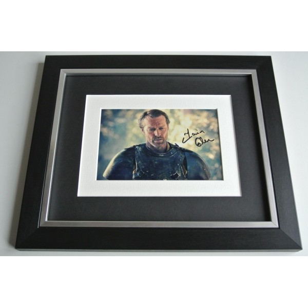 Iain Glen SIGNED 10x8 FRAMED Photo Autograph Display Game of Thrones TV & COA AFTAL Memorabilia PERFECT GIFT