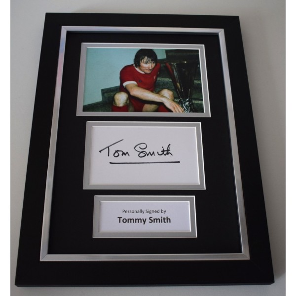 Tommy Smith Signed A4 FRAMED photo Autograph display Liverpool Football AFTAL & COA Memorabilia   perfect gift