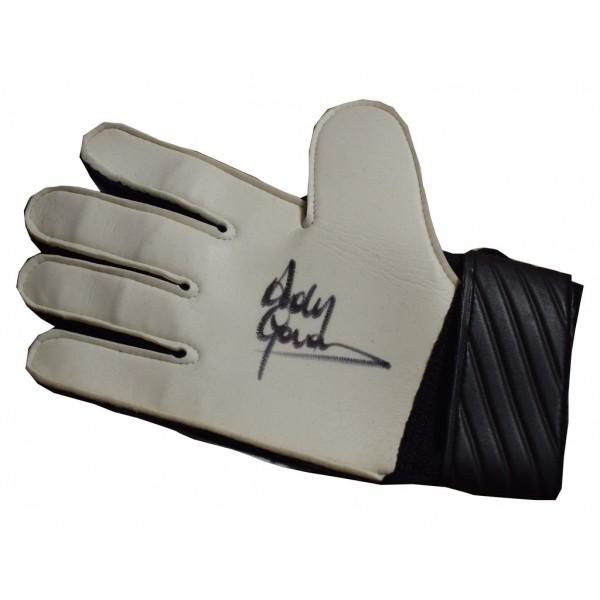 Andy Goram SIGNED autograph Goalkeeper Glove Glasgow Rangers Football AFTAL  COA Memorabilia PERFECT GIFT