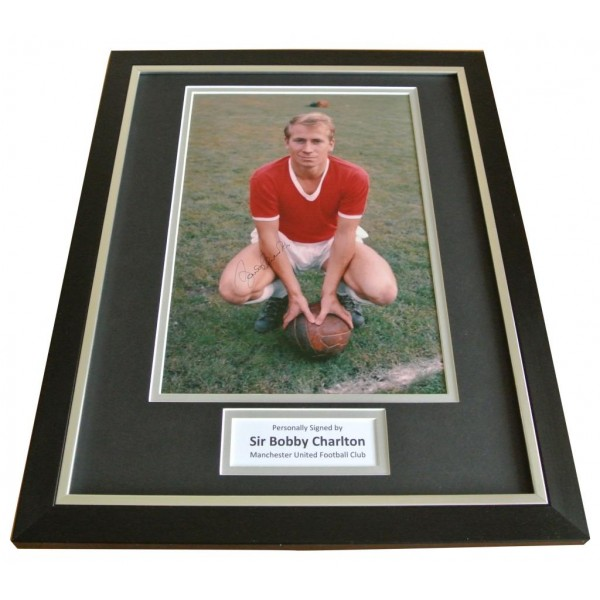 Bobby Charlton Signed FRAMED Photo Autograph 16x12 Display Man Utd Football COA   PERFECT GIFT