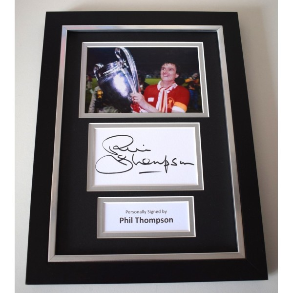 Phil Thompson Signed A4 FRAMED photo Autograph display Liverpool Football  AFTAL & COA Memorabilia   perfect gift