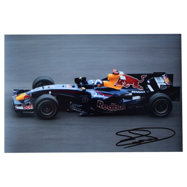 David Coulthard SIGNED 12x8 Photo Autograph Formula 1 Motor Racing  AFTAL  COA Memorabilia PERFECT GIFT