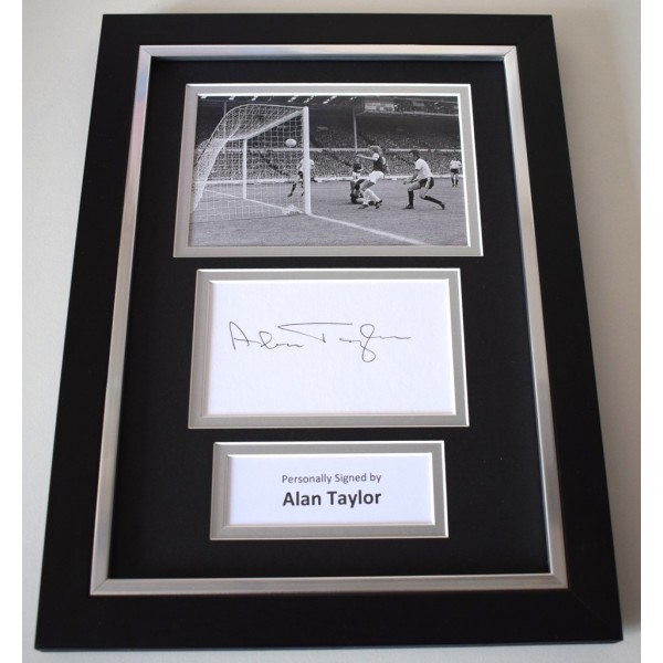 Alan Taylor Signed A4 FRAMED photo Autograph display West Ham Football AFTAL & COA Memorabilia   perfect gift
