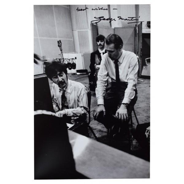 George Martin SIGNED 12x8 Photo Autograph Beatles Music  AFTAL COA Memorabilia PERFECT GIFT