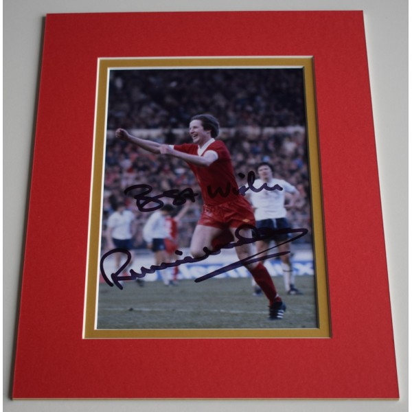 Ronnie Whelan Signed Autograph 10x8 photo mount display Liverpool Football  AFTAL & COA Memorabilia PERFECT GIFT