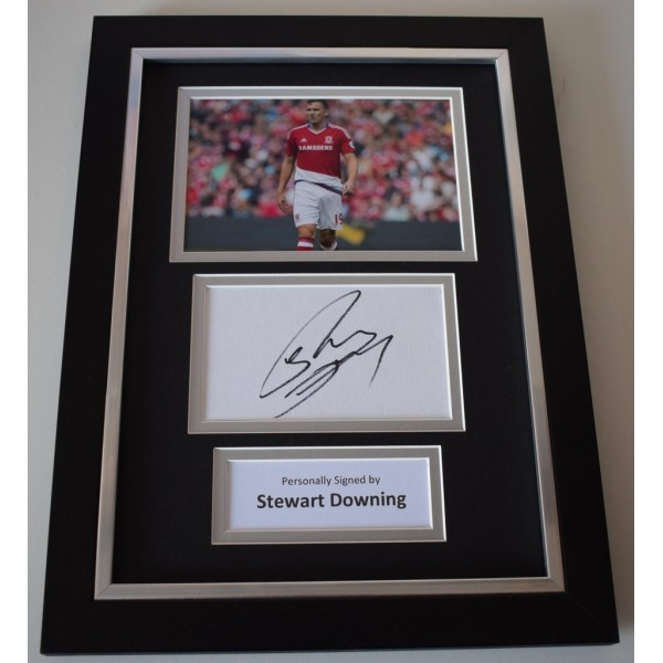 Stewart Downing Signed A4 FRAMED photo Autograph display Middlesbrough  AFTAL & COA Memorabilia   perfect gift