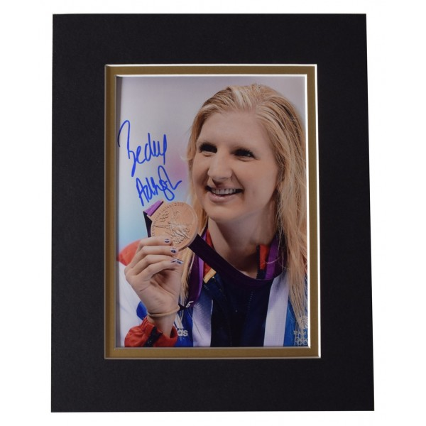 Rebecca Adlington Signed Autograph 10x8 photo display Olympic Swimming AFTAL  COA Memorabilia PERFECT GIFT