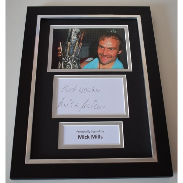 Mick Mills Signed A4 FRAMED photo Autograph display Ipswich Town Football AFTAL & COA Memorabilia   perfect gift