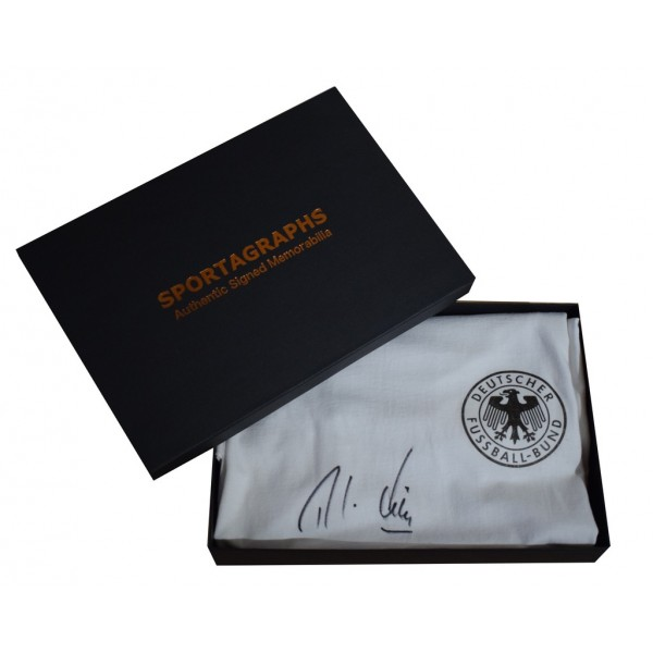 Rudi Voller SIGNED Autograph Germany Shirt Retro AFTAL COA Presentation Box  Memorabilia   perfect gift
