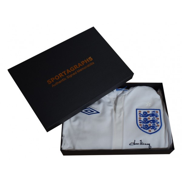 Tom Finney SIGNED Shirt Autograph Official England New AFTAL COA & Gift Box  Memorabilia   perfect gift