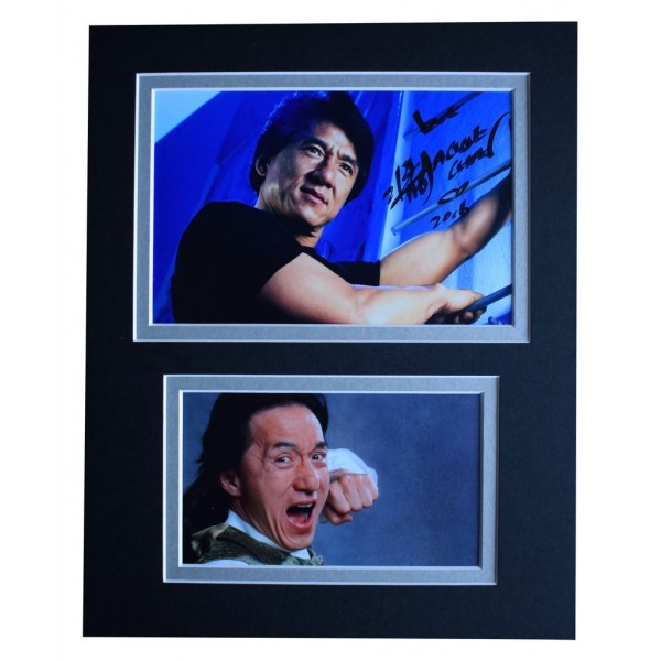 Jackie Chan Signed Autograph 10x8 photo display Martial Arts Film AFTAL  COA Memorabilia PERFECT GIFT
