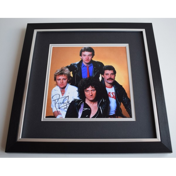 Roger Taylor SIGNED Framed LARGE Square Photo Autograph display Queen   AFTAL &  COA Memorabilia   perfect gift