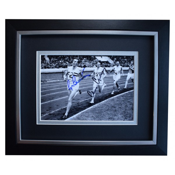 Roger Bannister & Chris Chataway SIGNED 10x8 FRAMED Photo Autograph Display  AFTAL  COA Memorabilia PERFECT GIFT