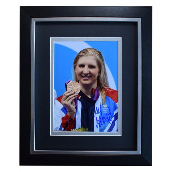 Rebecca Adlington SIGNED 10x8 FRAMED Photo Autograph Display Olympics  AFTAL  COA Memorabilia PERFECT GIFT