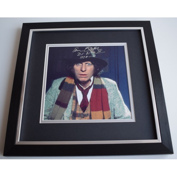 Tom Baker SIGNED Framed LARGE Square Photo Autograph display Dr Who AFTAL &  COA Memorabilia   perfect gift
