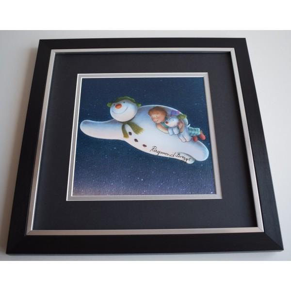 Raymond Briggs SIGNED Framed LARGE Square Photo Autograph display AFTAL &  COA Memorabilia   perfect gift