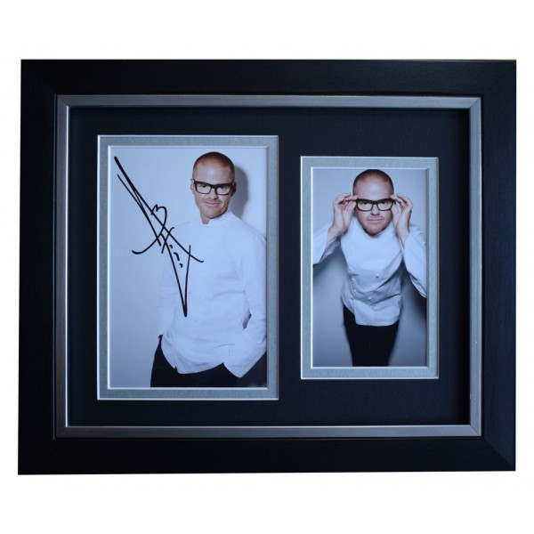 Heston Blumenthal SIGNED 10x8 FRAMED Photo Autograph Display Michelin Star Chef AFTAL  COA Memorabilia PERFECT GIFT