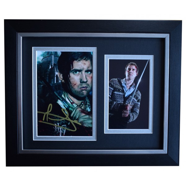 Matthew Lewis SIGNED 10x8 FRAMED Photo Autograph Display Harry Potter Film AFTAL  COA Memorabilia PERFECT GIFT