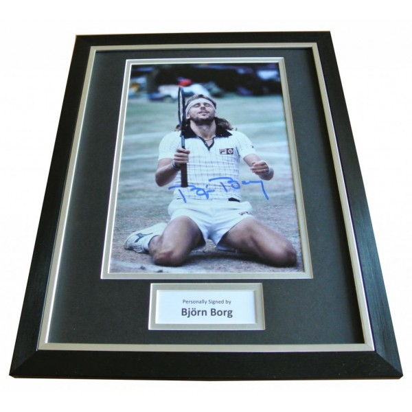 Bjorn Borg Signed FRAMED Photo Autograph 16x12 Display Tennis Champion & COA        PERFECT GIFT