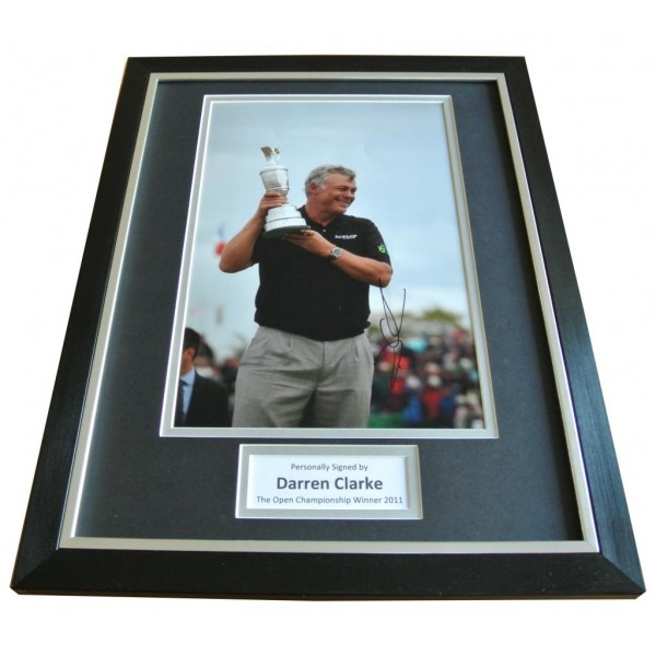 Darren Clarke Signed FRAMED Photo Autograph 16x12 Display Golf Open 2011 & COA   PERFECT GIFT