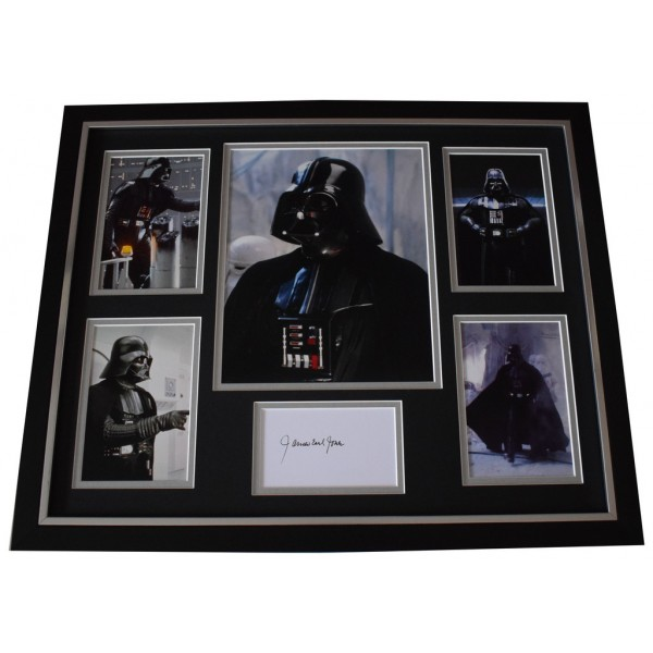 James Earl Jones SIGNED Framed Photo Autograph Huge display Star Wars Film AFTAL  COA Memorabilia PERFECT GIFT