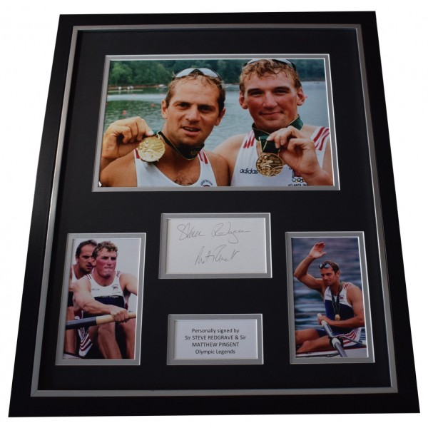 Steve Redgrave & Matthew Pinsent SIGNED Framed Photo Autograph Huge display  AFTAL  COA Memorabilia PERFECT GIFT