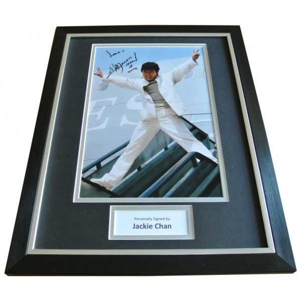 Jackie Chan Signed FRAMED Photo Autograph 16x12 Display Karate Martial Arts COA       PERFECT GIFT