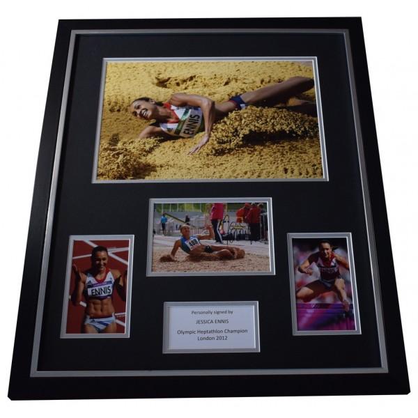 Jessica Ennis SIGNED Framed Photo Autograph Huge display Olympic Athletics AFTAL  COA Memorabilia PERFECT GIFT