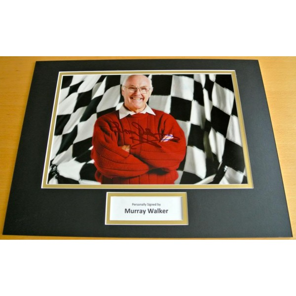 MURRAY WALKER HAND SIGNED AUTOGRAPH 16x12 PHOTO MOUNT DISPLAY FORMULA 1 & COA PERFECT GIFT