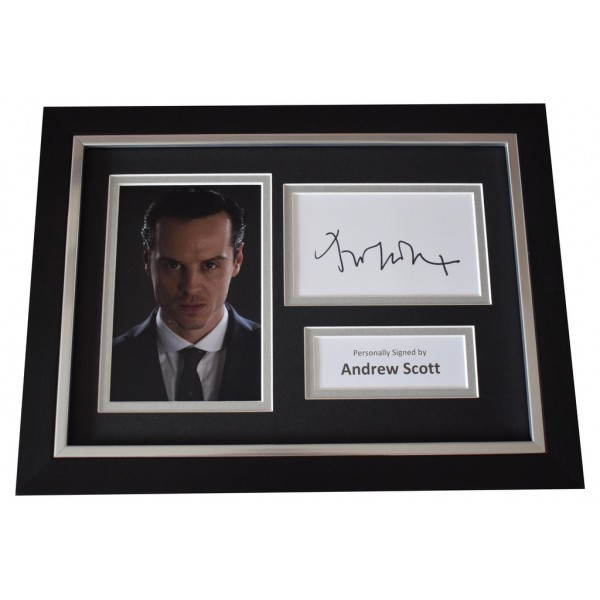 Andrew Scott SIGNED A4 FRAMED Autograph Photo Display Sherlock TV  AFTAL  COA Memorabilia PERFECT GIFT