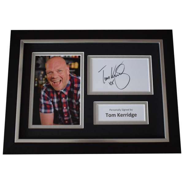 Tom Kerridge SIGNED A4 FRAMED Autograph Photo Display TV Chef  AFTAL  COA Memorabilia PERFECT GIFT